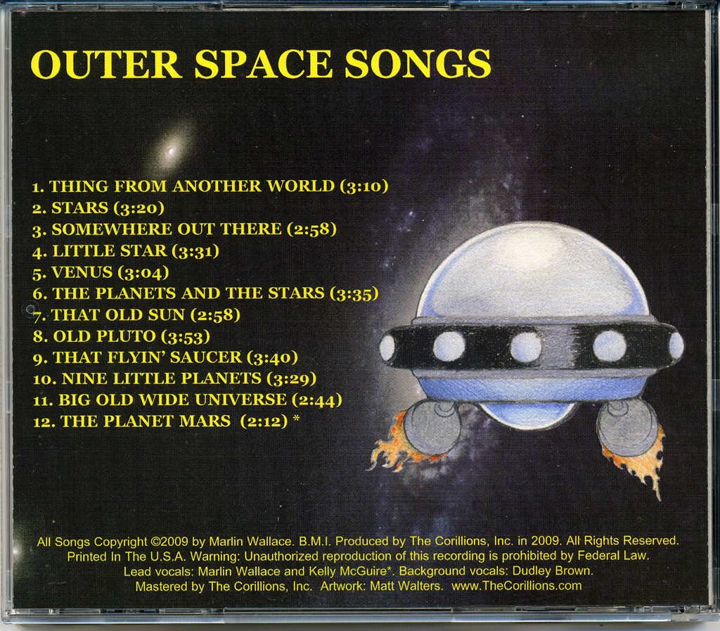 The Corillions, Inc  - OUTER SPACE SONGS